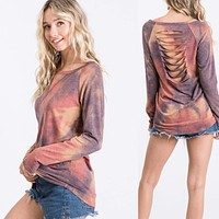 Mindy Tie Dye Ripped Top