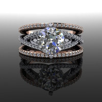 Forever Brilliant and Diamond Round Engagement Ring 3.12 CTW