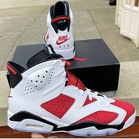 Nike Air Jordan 6 Retro OG Carmine Basketball Shoes Sneakers