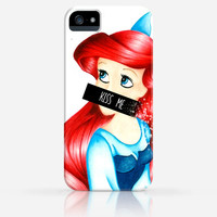 Ariel the Mermaid Kiss Me Disney iPhone 4 Case, iPhone 4s Case, iPhone 5 Case, iPhone 5s Case, iPhone Hard Plastic Case
