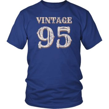 Men's Vintage 95 Tshirt 23rd Birthday Gift for 23 Year Old