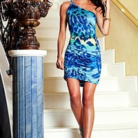 One shoulder dress with print from VENUS