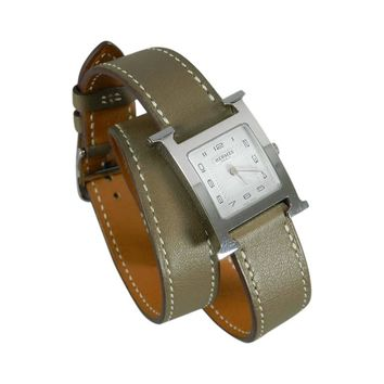 Hermes H Hour Double Tour PM Watch in Box