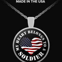 My Heart Belongs To a Soldier v2 - Necklace