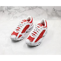Morechoice Tuiw Supreme X Nike Air Max Tailwind 4 White University Red Men Sneaker Casual Running Shoes At3854 100