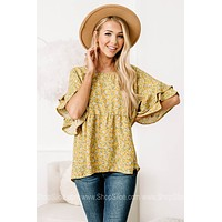 From Across The Field Floral Printed Top
