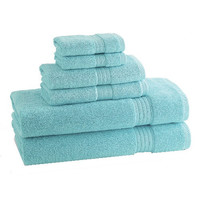 kassadesign brights bath towels | caribbean-blue