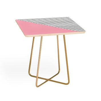 Allyson Johnson Pink n stripes Side Table