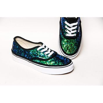 Rainforest Blue Green Starlight Sequin Authentic Sneakers