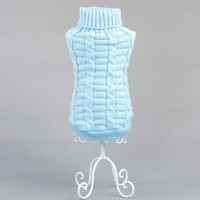Factory Price! Large Cute Small Pet Dog Knitwear Outdoor Warm Puppy Coats Sweater Clothes Jumper