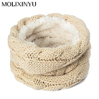 MOLIXINYU Cotton Winter Children Scarf For Girls Boys Scarves Warm Winter Scarf For Kids Baby Scarf Knitted