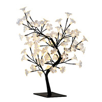 """Simple Designs Cherry Blossom Decorative Lighted Tree Lamp, 23 5/8""""H, Clear Shade/Black Base Item # 591008"""
