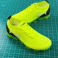 Nike Air Vapormax Flyknit 2.0 Fluorescent Green Sport Running Shoes - Best Online Sale