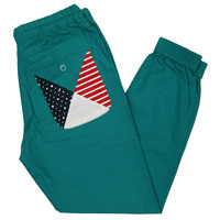 PRISM CUFF JOGGER PANTS IN TEAL