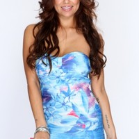 Blue Multi Pleated Printed Dress @ Amiclubwear sexy dresses,sexy dress,prom dress,summer dress,spring dress,prom gowns,teens dresses,sexy party wear,women's cocktail dresses,ball dresses,sun dresses,trendy dresses,sweater dresses,teen clothing,evening coc