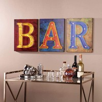 Southern Enterprises LED Bar Signs - 3pc Set