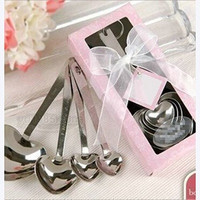 Cool Lovely One Set of Four Sweet Heart Shaped Measuring Spoons Wedding Favors cheap = 1931902596