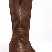 Not Rated Sassy Classy Boots for Women in Tan NRTB0085-251