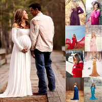 Fashion Maternity Photography Props Maternity Dresses Pregnant Clothes Chiffon Dress Photography Maternity Dress High Quality [9324247044]