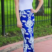 Modern Vintage Maxi Skirt - Royal