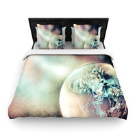 "Infinite Spray Art ""Space Dust"" Space Planet Woven Duvet Cover"