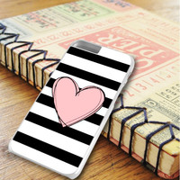 Light Pink Heart Stripes iPhone 6 Plus | iPhone 6S Plus Case