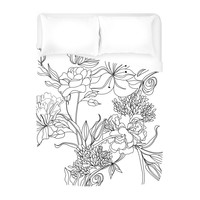 Sketch Floral Duvet Cover