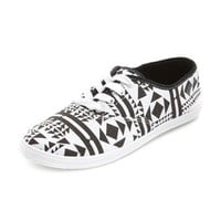 Tribal Print Canvas Lace-Up Sneaker: Charlotte Russe