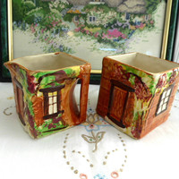 Cottage Ware Cream And Sugar Price Brothers Vintage 1950s Cottage Tea Party