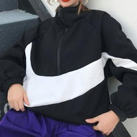 """NIKE"" Women's Leisure  Fashion Letter Spell Color Printing Long Sleeve  Sweater"
