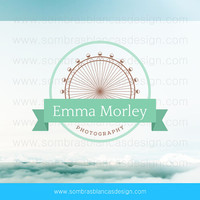 OOAK Premade Logo Design - London Eye - Perfect for a travel photographer or a souvenirs shop