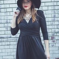 All Cinched Up Dress in Black