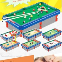 Family Friends party Board game Mini Billiards Football Basketball Bowling Hockey Golf Hockey Seven-in-one Indoor Desktop Toy Parent-child interaction AT_41_3