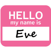 Eve Hello My Name Is Mouse Pad