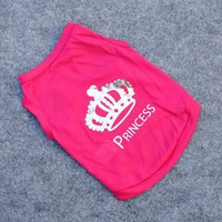 Hot Sales Small Dogs Cat Summer Coat Pet Princess T-shirt Clothes Costumes Outfit Vest Large
