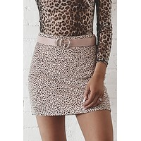 So Criminal Cheetah Pink Animal Mini Skirt