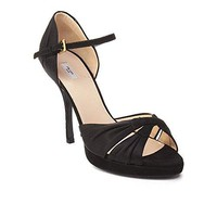 Prada Women's Suede High Heel Shoes Black
