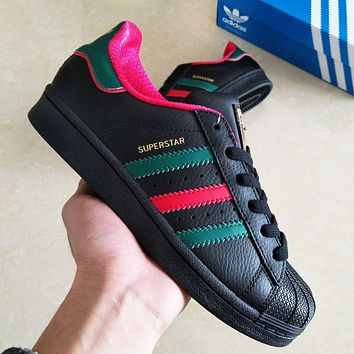 Adidas Superstar New fashion couple running shoes Black