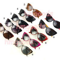 New Fashion Retro Cute  Leopard Vintage Cateye sunglasses