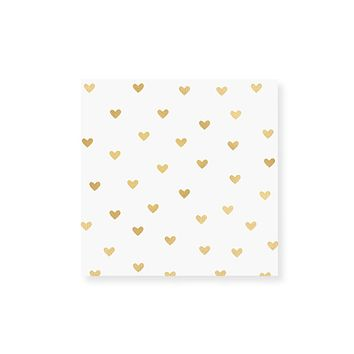 Small Heart Gold Foil Match Box