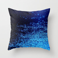 blue odisseia Throw Pillow by Marianna Tankelevich   Society6