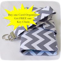 Credit Card Organizer Wallet Free Wristlet Key Chain Gift Card Holder women's wallet 38 Credit Card Organizer Made to Order