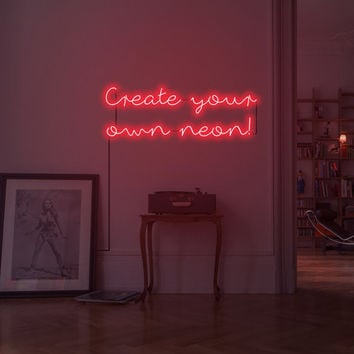 Custom neon sign. Design your own neon! Customisable neon sign. Place order through message ONLY.