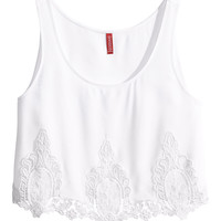 H&M - Short Lace Top