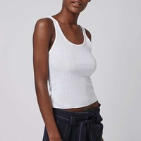 PETITE Rib Jersey Vest - Tops - Clothing