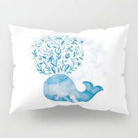 Cute Watercolor Whale Pillow Sham by noondaydesign