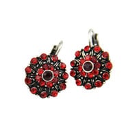 2014 New African Style Fashion Women Vintage Antique Silver Plated Crystal Rhinestones Statement Clip Earrings Jewelry