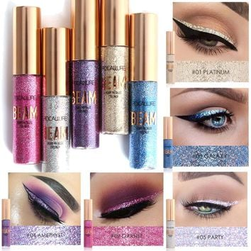 Focallure Glitter Eyeliner Waterproof Makeup Eye Liner Pencils Long Lasting Shimmer White Blue Color Brand Liquid Eyeliner