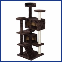 New Cat Tree Tower Condo Furniture Scratch Post Kitty Pet House Play Brown.