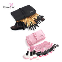Woman's Professional 32 Pcs Make Up Tools Pincel Maquiagem Superior Soft Cosmetic Beauty Makeup Brushes Set Kit + Pouch Bag Case